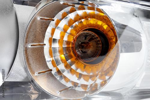 Photo sur Toile Spirale Car headlight
