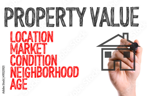 Photo Hand with marker writing: Property Value