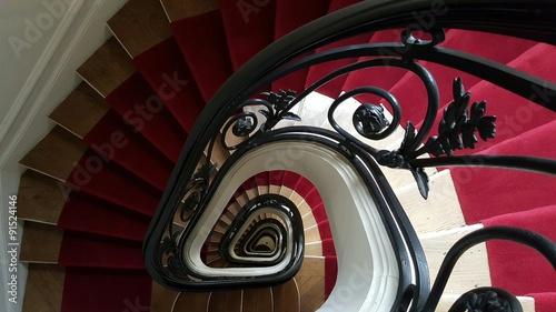 Foto op Canvas Trappen Cage d'escalier parisienne typiquement haussmanienne