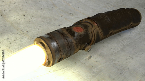 Worn and Rusty Vintage Lightsaber Canvas Print