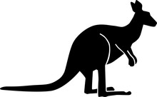 Kangaroo Silhouette Sitting