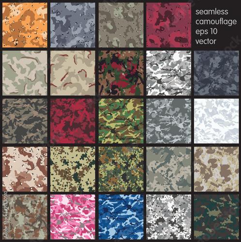 Fotografía  Seamless Camouflage pattern vector