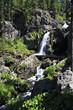 Beautiful Muehtinsky waterfall in Altai Republic.