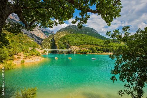 Large bridge over the gorge Verdon
