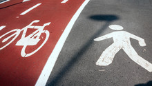 Pedestrian And Bicycle Signs
