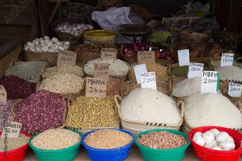 In de dag Zanzibar market place in zanzibar