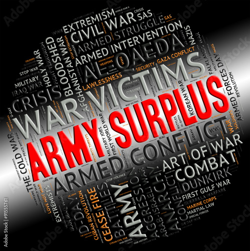 Army Surplus Represents Military Service And Armies - Buy this stock