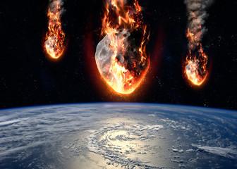 Meteor glowing as it enters...