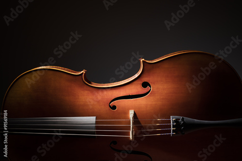 Canvas Print Cello silhouette
