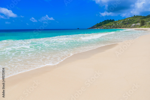 Poster Strand Anse Intendance - Beautiful beach on island Mahé in Seychelles