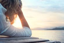 Melancony Woman Observing The Sunset