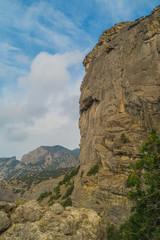Mountain scenery on the trail Galitsina