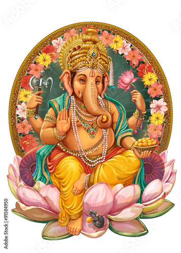 God Ganesha. Wallpaper Mural