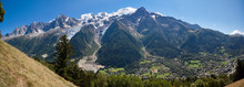 Panoramic View Of The Mont Blanc Massif