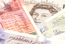 Money British Pounds Sterling Gbp Closeup