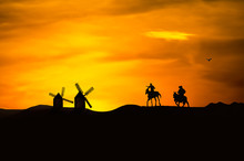 Illustration Of Don Quixote And Sancho Panza