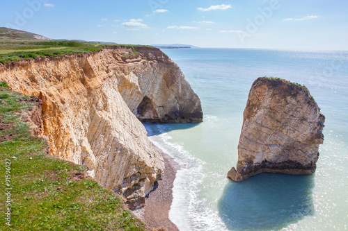 Canvas Print Freshwater Bay Isle of Wight