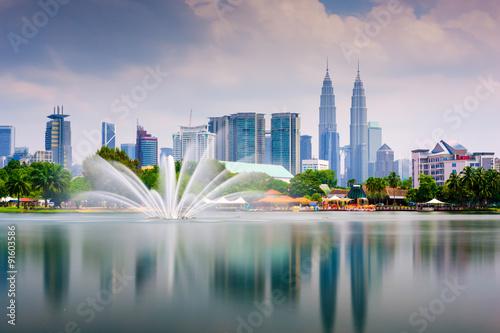 Canvas Prints Kuala Lumpur Kuala Lumpur Park Skyline