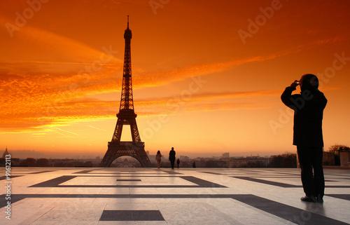 Papiers peints Paris tour Eiffel prise en photo