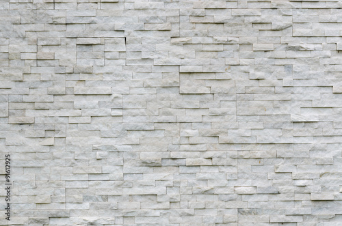 Photo sur Toile Brick wall modern pattern of real stone wall