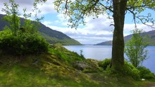 A Pretty Establishing Shot Of Loch Lomand, Scotland.