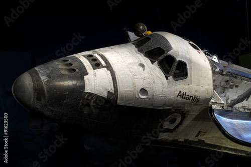 Foto op Plexiglas Nasa Shuttle Atlantis at Cape Canaveral, Kennedy Space Center with black background. Elements of this image furnished by NASA.