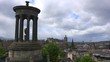 A beautiful time lapse shot of clouds over the Edinburgh, Scotland skyline.