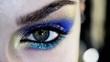 Human eye close up macro