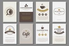 Set Of Coffee Brochures In Vin...