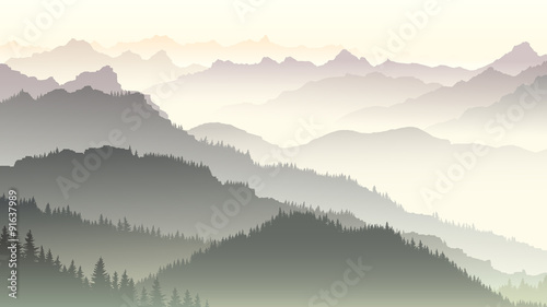 horizontal-illustration-of-twilight-in-forest-hills