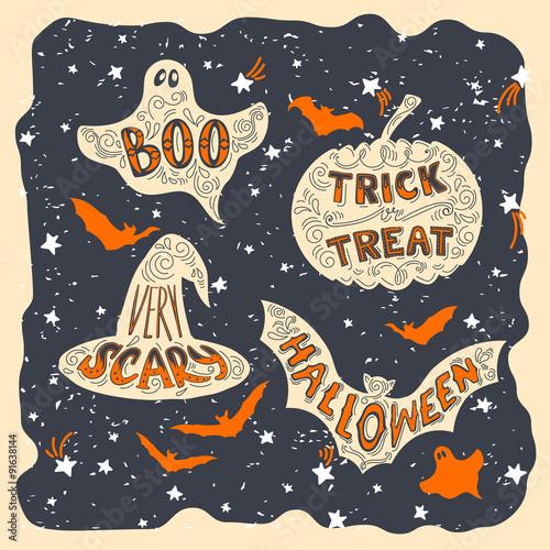Fotografia, Obraz  Halloween symbols