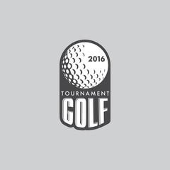 Panel Szklany Golf Retro Vintage Hipster Golft Vector Logo.