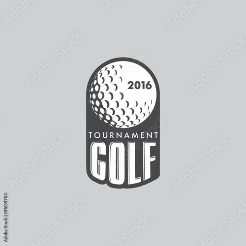Retro Vintage Hipster Golft Vector Logo. - 91639704