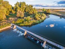 River Diversion Dam - Aerial V...