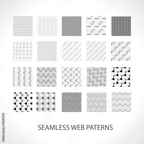 Poster Artificiel Web patterns set for your works with ready swatches