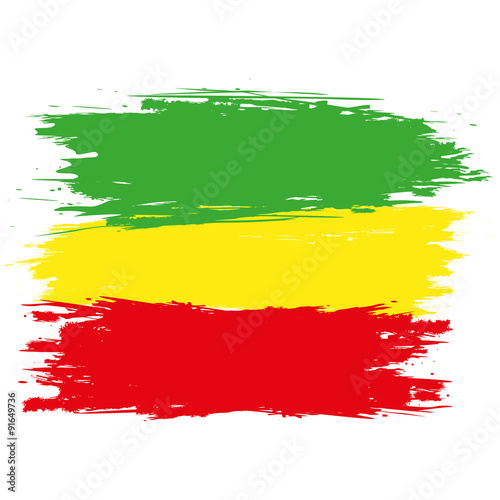 Grunge rasta flag as a background, vector Canvas-taulu