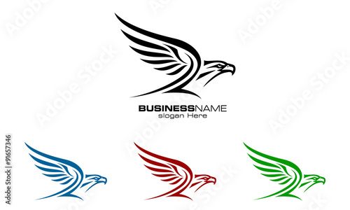 Fotografering  eagle, hawk, phoenix, vector, logo, design,