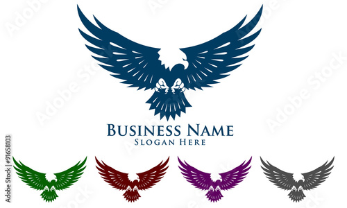 Canvas Print eagle, hawk, phoenix, vector, logo, design,