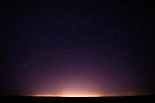 Colorful Night Starry Sky Abov...