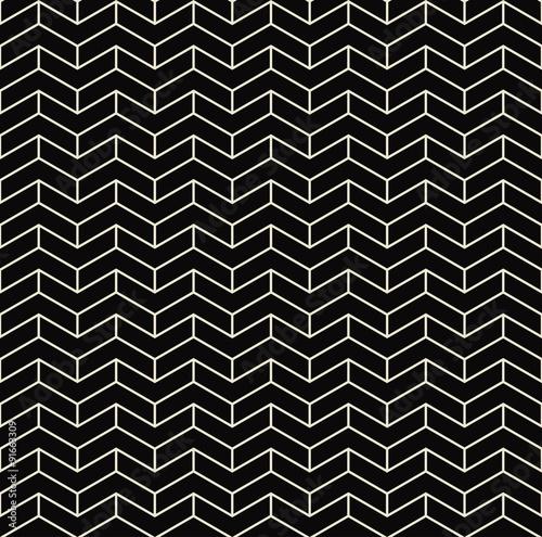 Photo black and white chevron pattern