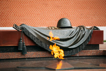 Eternal Flame In Moscow At The Tomb Of The Unknown Soldier In