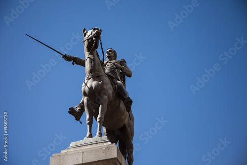Cuadros en Lienzo Statue of Simon Bolivar