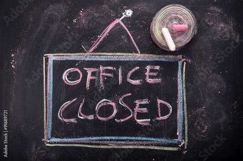 Obraz Office closed - fototapety do salonu