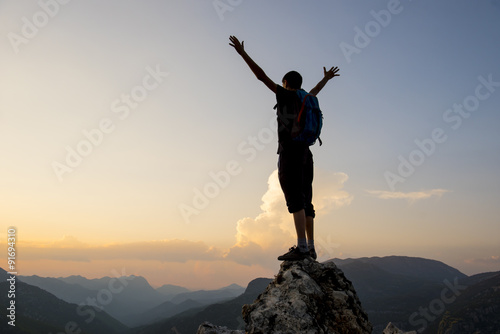 Fotografia  Sukces radości i dumy i sukcesu celu