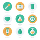 medical Flat Icons Design