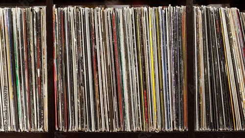 Fotografía  Stack of old vinyl records
