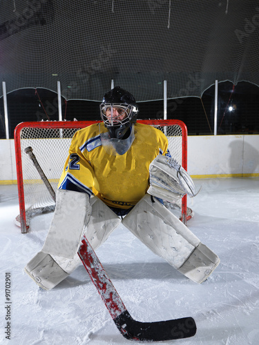 fototapeta na szkło ice hockey goalkeeper