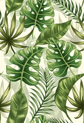 Plakat Leaves pattern