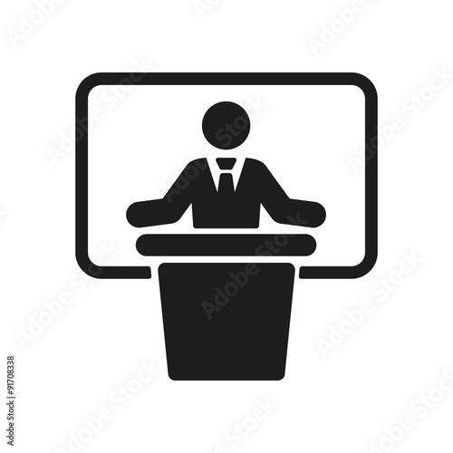 Valokuva  The speech icon