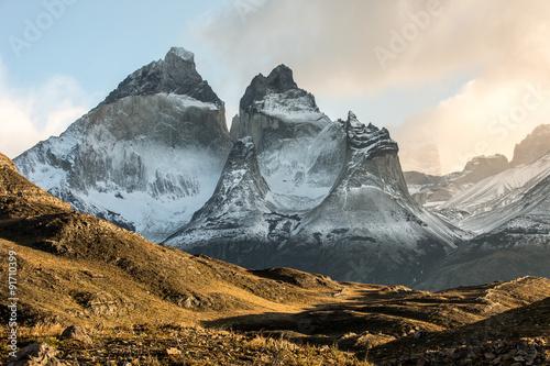 Fotografie, Obraz  Sunrise in the National Park Torres del Paine, Patagonia, Chile